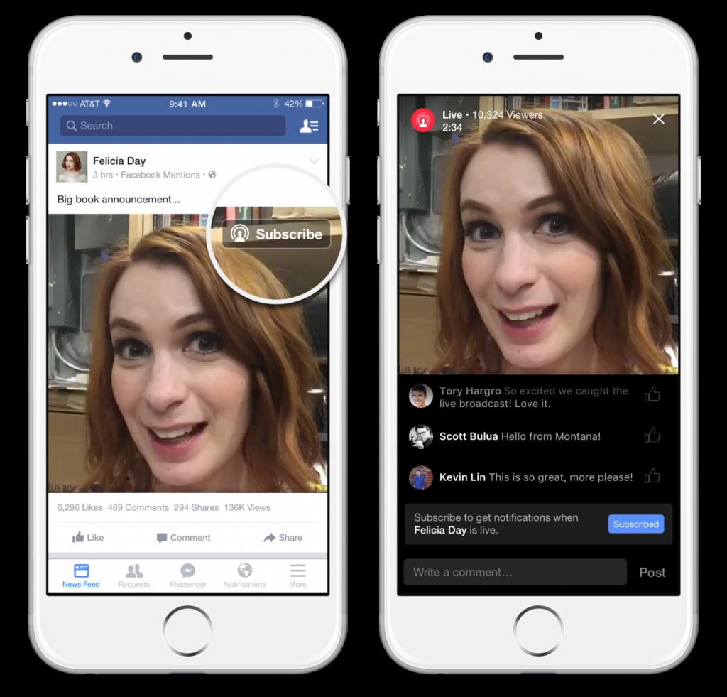Transmisja video na żywo Facebook
